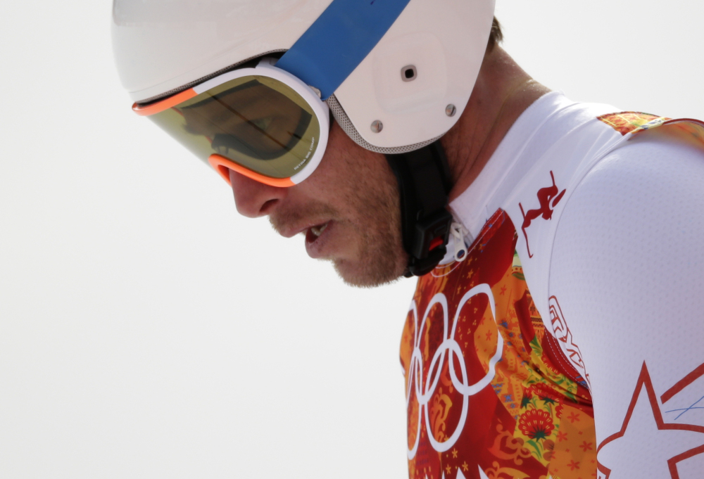 United States' Bode Miller looks dejected Sunday after finishing the men's downhill in eighth at the Sochi 2014 Winter Olympics in Krasnaya Polyana, Russia.