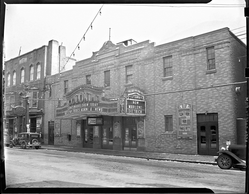 Staff file photo This 1940 Kennebec Journal staff file photo shows the Colonilal Theater in Water Street in downtown Augusta.