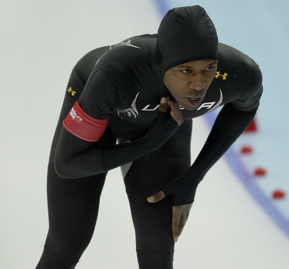 Shani Davis is a top-ranked speedskater but has finished no higher than eighth in the Winter Olympics.