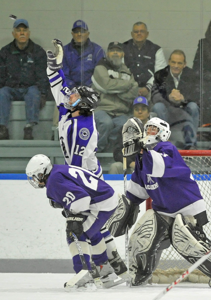 LEADER OF THE LINE: Waterville forward Thomas Samson, 12, was moved to the second line midway through the season. It was a good move for Sampson, who is third on the team with 21 points.