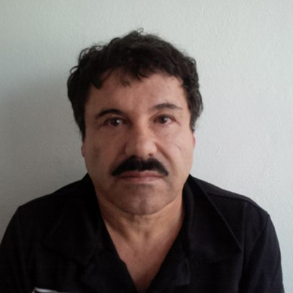 "In this Feb. 22, 2014, image released by Mexico's Attorney General's Office, Joaquin ""El Chapo"" Guzman is photographed against a wall after his arrest in the Pacific resort city of Mazatlan, Mexico."