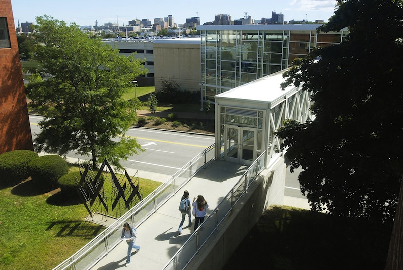 The University of Southern Maine's Portland campus. The University of Maine System will cut 165 jobs in the next budget year – and possibly another 335 in the next five years – to address budget concerns.