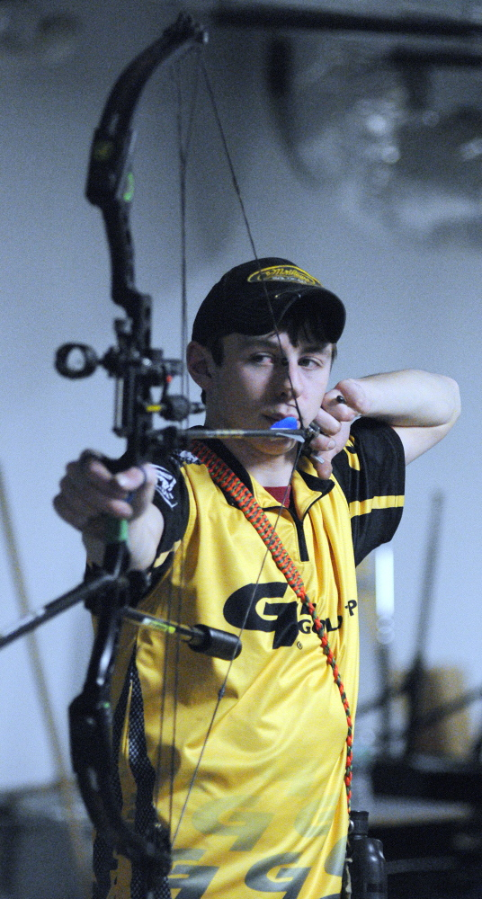 GOOD SHOT: Maranacook Community High School student Charlie Weinstein was part of a team that won the Junior Compound team title at the World Archery championships in Nimes, France.