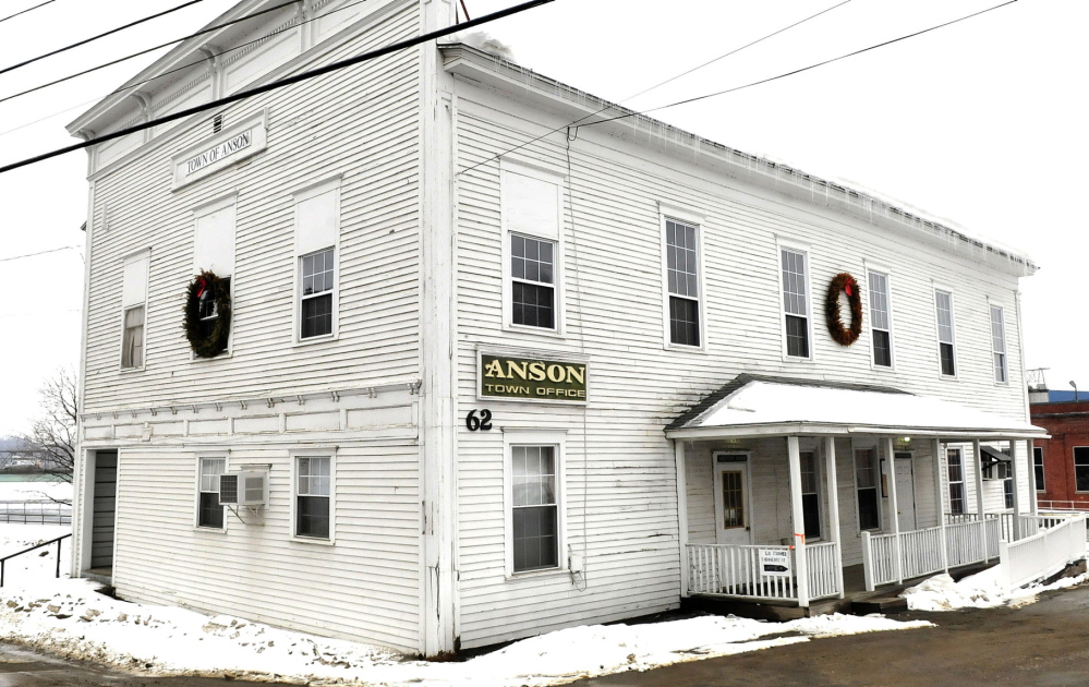 SHOWING ITS AGE: The Anson Town Office has been closed since mold, sewer gas and rodents have plagued the century-old building. Voters at town meeting rejected a $35,000 to fix the building and instead have opted for selectmen to come up with a plan in the next six months.