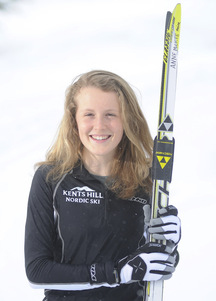 Skier of the Year: Kents Hill School's Anne McKee is the Kennebec Journal's woman's Nordic skier of the year.