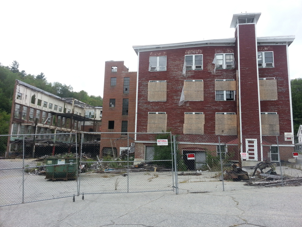 NO FORECLOSURE: The exterior of the Forster Mill building in Wilton in August 2013.