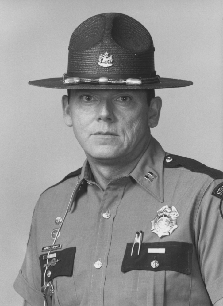 In this photo, published in 1986, then-Capt. Andrew Demers of the Maine State Police.