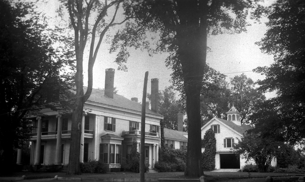 The home of former Gov. Abner Coburn in Skowhegan, date unknown.
