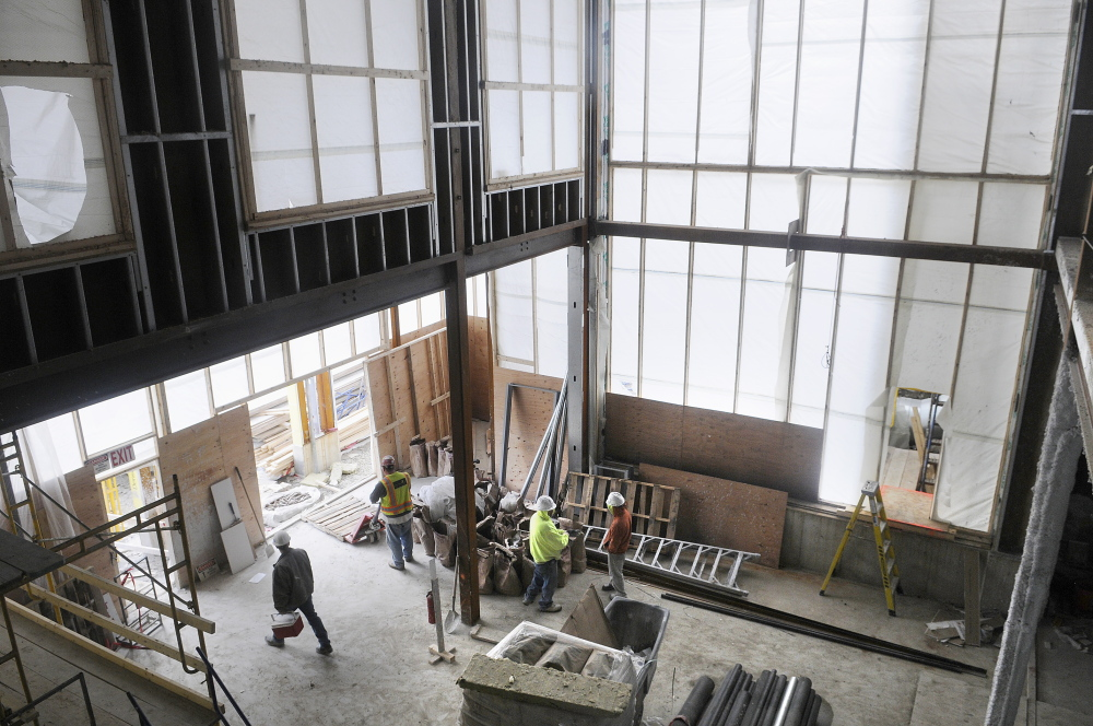 Kennebec County Courthouse Complex: The new entrance of the courthouse under construction in Augusta.