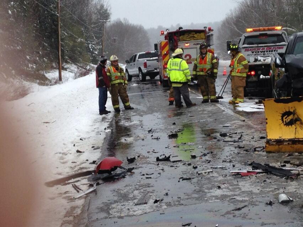 fatal accident: An early morning crash in Winthrop on U.S. Route 202 claims the life of a man and injures a woman.