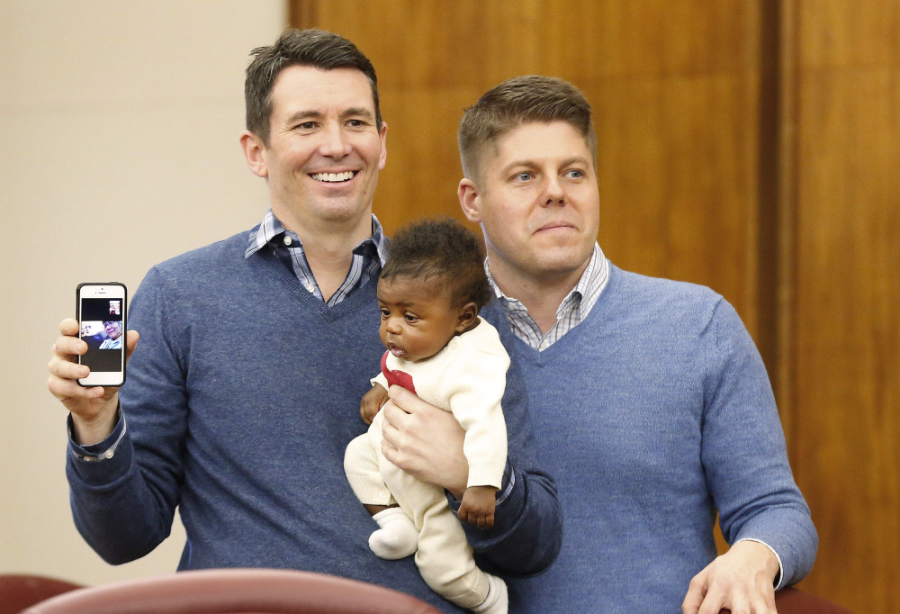Jim, left, and Jason Shaffer were among the gay couples who married Saturday while it was briefly legal in Michigan.