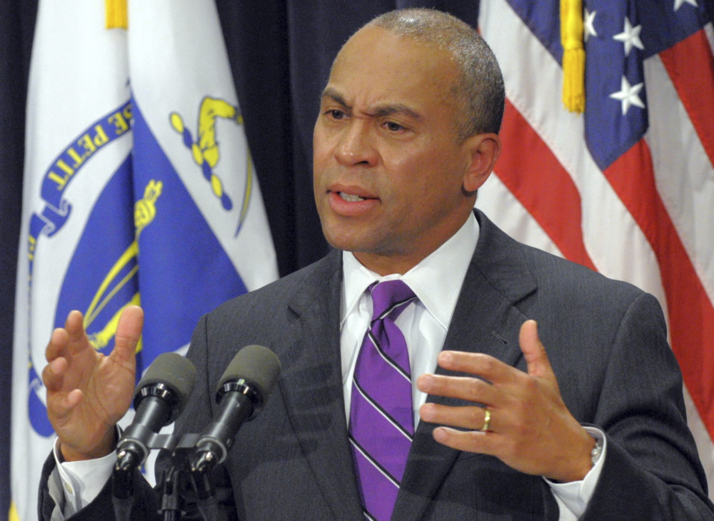 GUEST SPEAKER: Massachusetts Gov. Deval Patrick, seen in this January file photo, will speak at Colby College's commencement May 25.