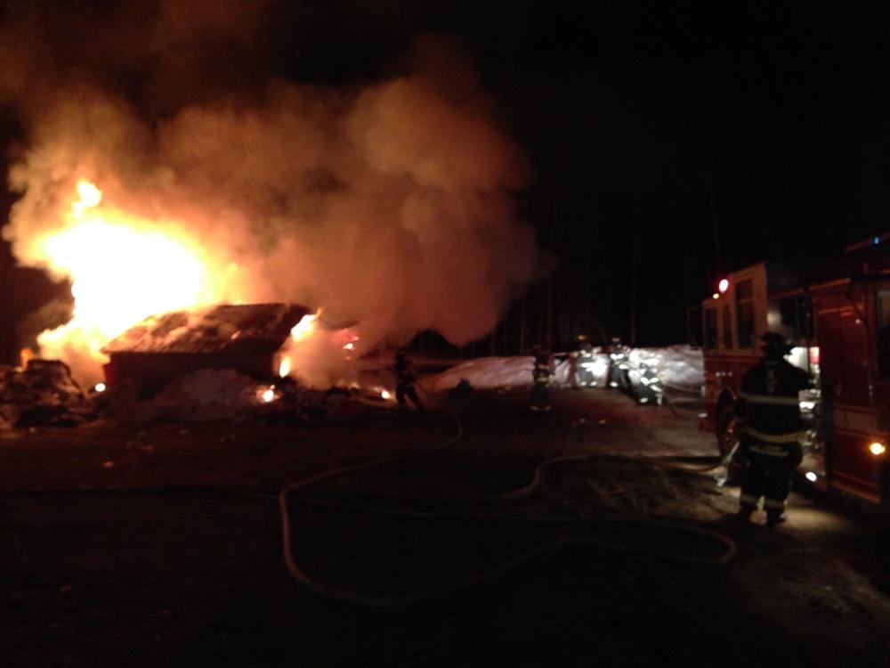 Fire officials believe the fire at 52 Maple St. fire started near a kerosene heater.