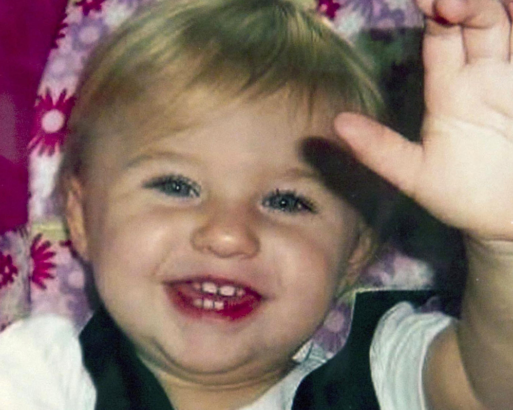 STILL MISSING: This undated file photo provided by Trista Reynolds shows Ayla Reynolds, her 1-year-old daughter, who was reported missing from her father's home in Waterville on Dec. 17, 2011. In a letter this week to the Morning Sentinel, Trista Reynolds is asking that Ayla's father, Justin DiPietro, be charged with child endangerment.