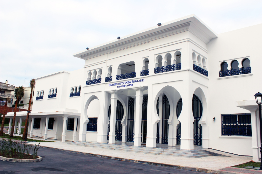 The University of New England's main academic building on its Tangier, Morocco, campus.