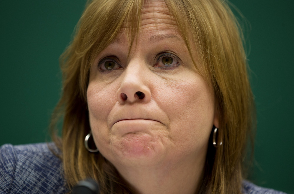 GM CEO Mary Barra testifies on Capitol Hill in Washington on Tuesday about safety defects and delayed vehicle recalls.