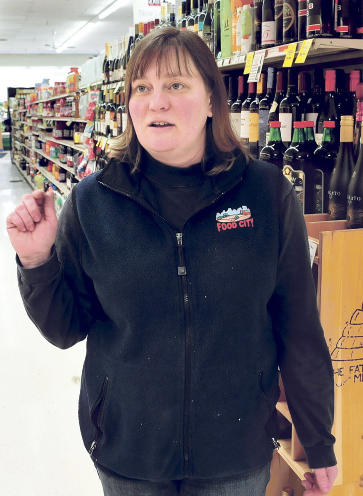 MORE BUSINESS: Food City store manager Amanda Berry said she welcomes the potential for more business after the new Western Maine Play Museum opens on Main Street in Wilton.