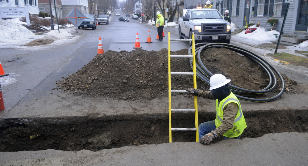 HELP WANTED: The head of Hallowell's water district, Dennis Kinney, says he will need to hire an additional staff member this year to monitor the expansion of natural gas lines in the city.