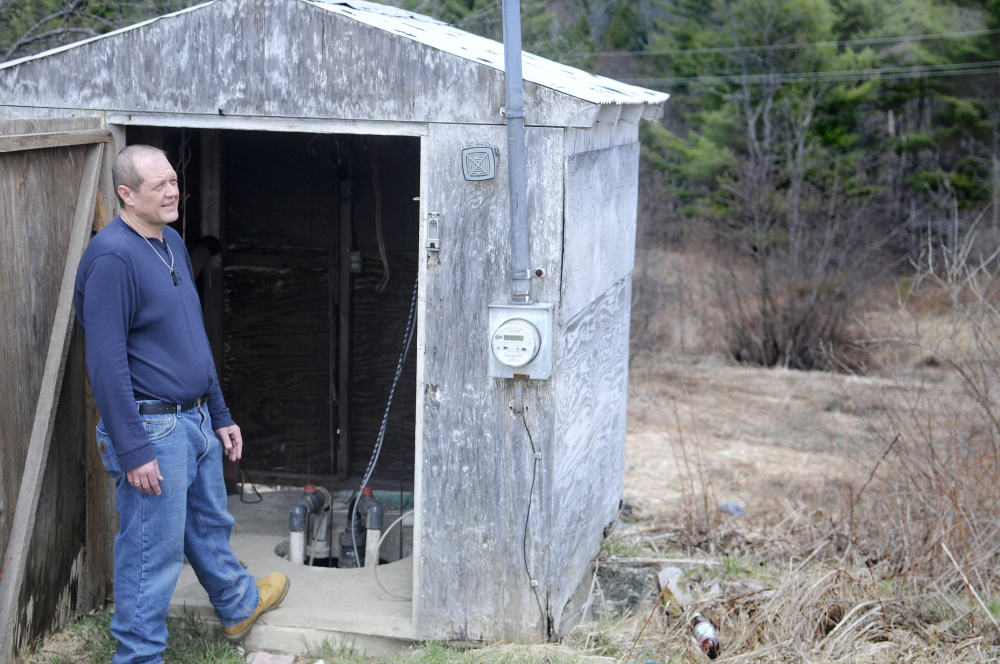 NO WATER: John Wilson says a sewer pump at his Richmond trailer park is disabled, leaving residents without water and sewer service because of contamination of a nearby stream.