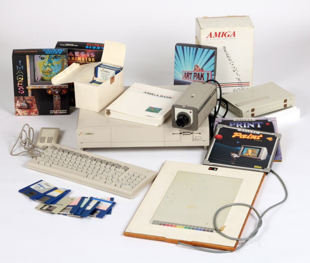 Commodore Amiga computer equipment used by Andy Warhol 1985-86.