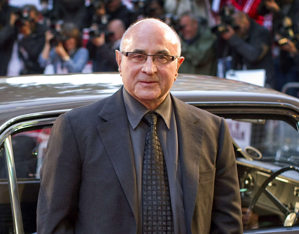 """Actor Bob Hoskins arrives in 2010 for the world premiere of """"Made in Dagenham"""" in London. In 2012 he announced that he had been diagnosed with Parkinson's disease and was retiring from acting."""