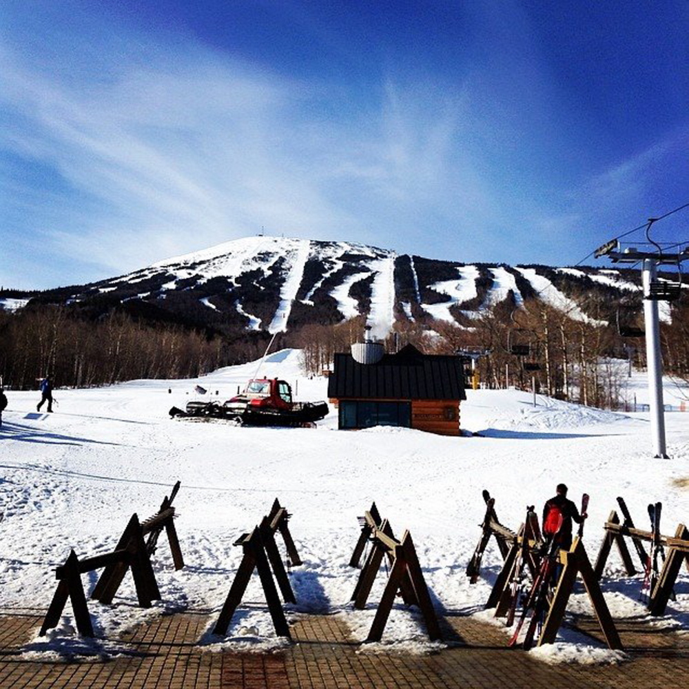 GOOD YEAR: Sugarloaf Mountain in Carrabasset Valley, seen here in a file photo, got off to a slow start this season, but finished strong. Its last day of skiing is Sunday.