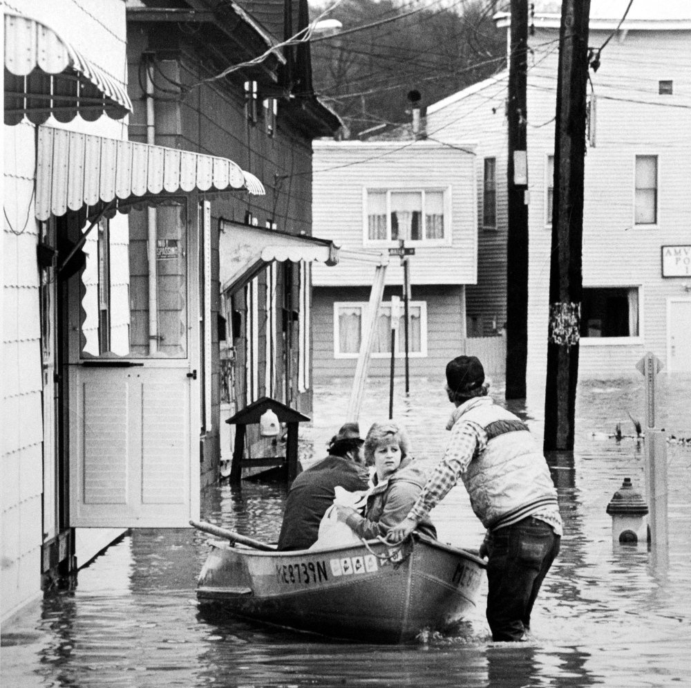 History: This file photo from the April 1987 flood shows the Bond Street Historic District that was recently added to the national Register of Historic Places.