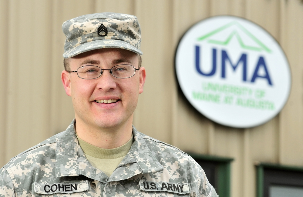 DISTINGUISHED STUDENT: Maine Army National Guard Staff Sgt. Ron Cohen is one of the University of Maine at Augusta's distinguished students who will be honored Saturday during commencement exercises.