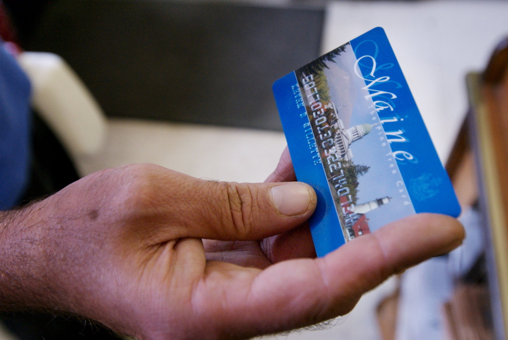 The DHHS has blocked the use of electronic benefit cards in ATMs at 44 locations statewide and plans to expand to more than 200 locations by August, Gov. Paul LePage said.
