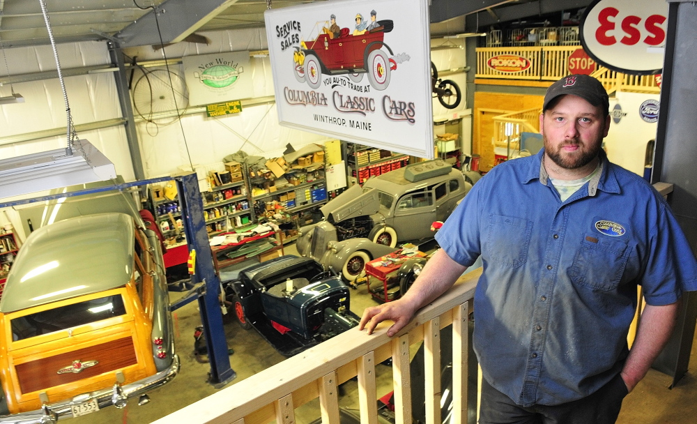 EXPENSIVE FIX: Columbia Classic Cars Manager Roy Weymouth says it will cost the business $50,000 to tie in to the town sewer line, a figure the town disputes.