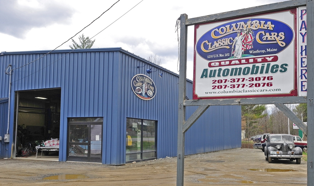 EXPENSIVE FIX: Columbia Classic Cars, on U.S. Route 202 in Winthrop, is concerned about the cost of hooking in to the town's sewer line.