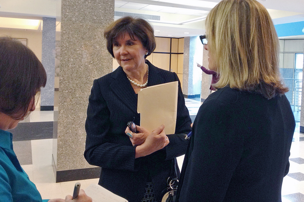 The CDC controversy began as part of a federal whistleblower lawsuit filed by Sharon Leahy-Lind (center), a former director of the agency's Division of Local Public Health.