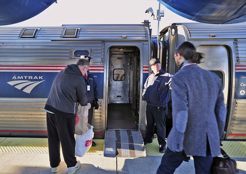 The Downeaster passenger train has experienced some delays as crews repair tracks damaged by snow and ice last winter.