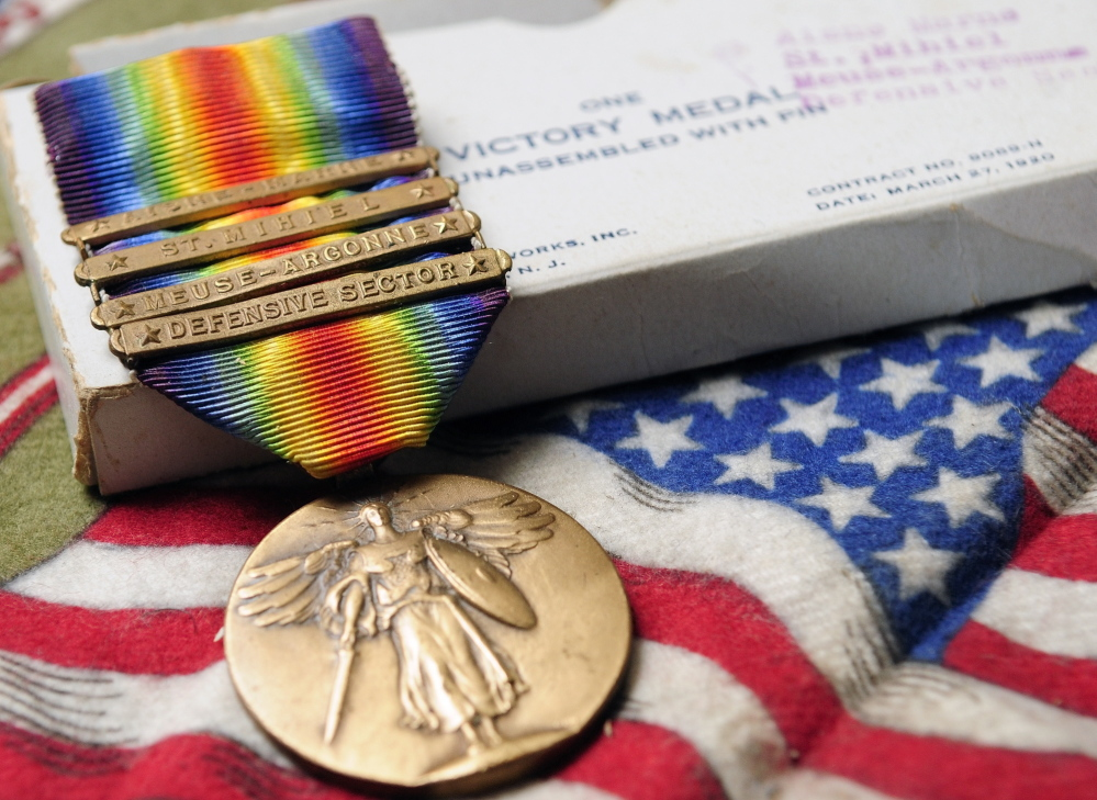 Victory: Leon Wood's Victory Medal is among the memorabilia his nephew treasures.