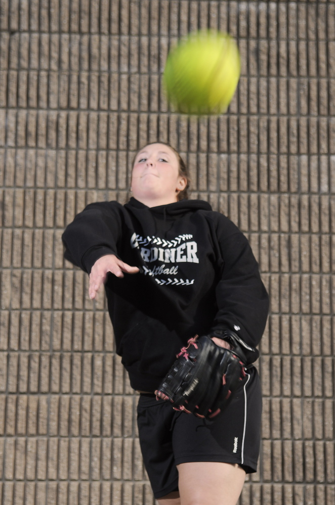 FIREBALLER: Gardiner Area High School softball pitcher Brittany Rollins has 50 strikeouts in 34 innings. Thanks to her work in the circle, and Kristal Smith's hitting (.610 average, 16 RBIs), the Tigers have outscored opponents 156-11.