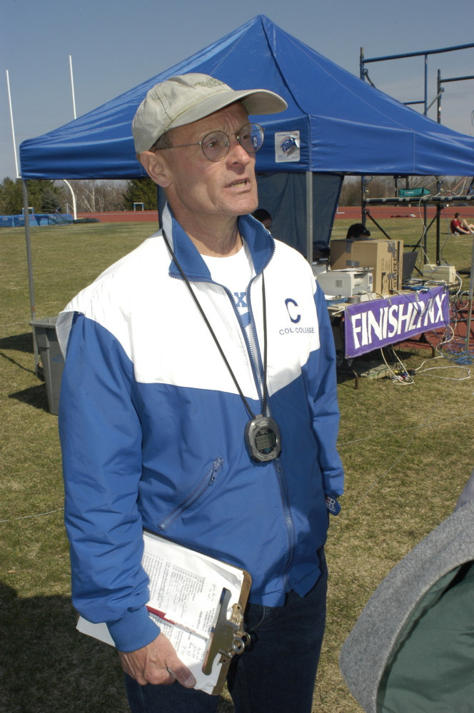 Coach: Jim Wescott coached the Colby track and field team for 25 years, from 1978 to 2003.