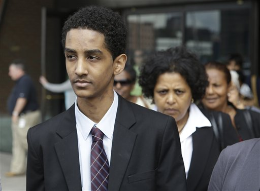 Robel Phillipos leaves federal court Friday, Sept. 13, 2013, in Boston after he was arraigned on charges of hindering the investigation of Boston Marathon bombing suspect Dzhokhar Tsarnaev. Phillipos pleaded not guilty to the charges.