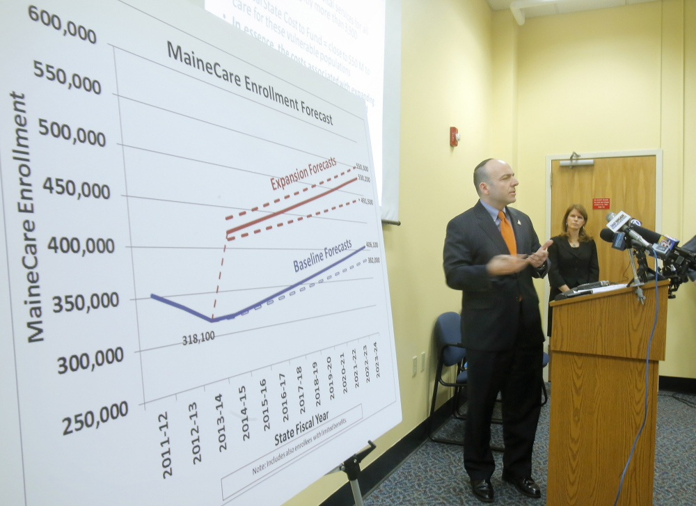 Gary Alexander of the Alexander Group gives his analysis of a report his group developed regarding the cost of expanding MaineCare in Augusta in January. Lawmakers reported Thursday that Gov. Paul LePage told them the state won't recoup money spent on the reports, parts of which were found to be plagiarized.