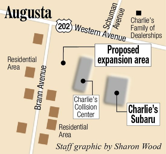 Charlie 39 s subaru looks to expand car lot in augusta for Charlie s motor mall augusta maine