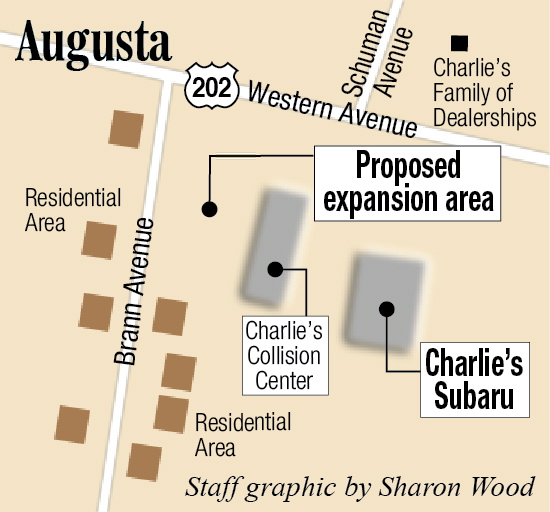 Charlie 39 s subaru looks to expand car lot in augusta for Charlie s motor mall augusta me