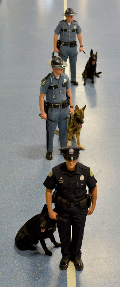 Officers Dogs Show Off Their Skills At The Maine K 9