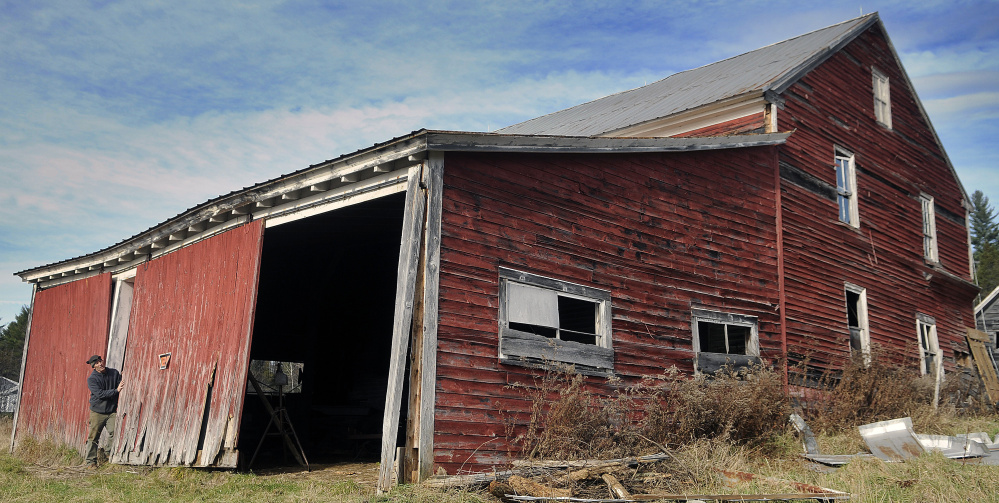 Vienna barn hides old mineral spring hotel central maine Maine wood furniture