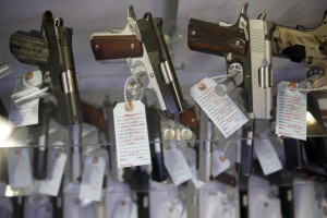 The FBI processed a record number of firearms background checks on Black Friday, the agency said.