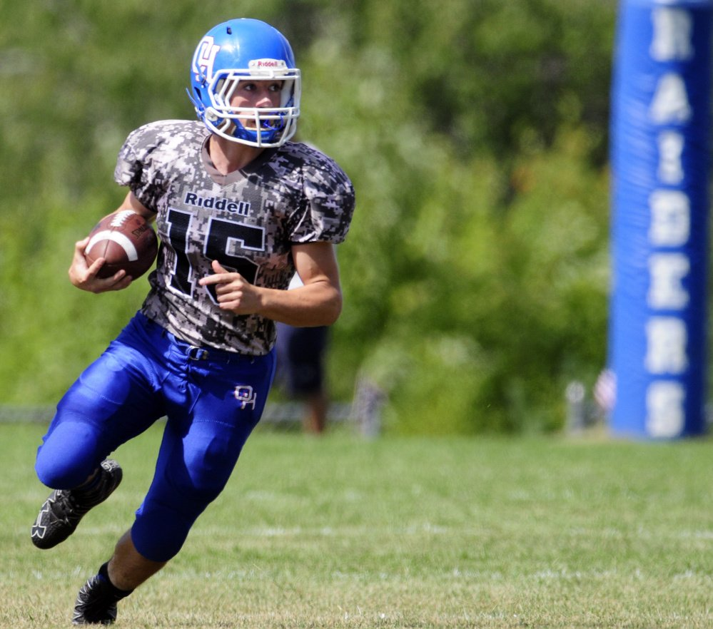 Oak Hill's Steve Gilbert runs during a game on Saturday in Wales.
