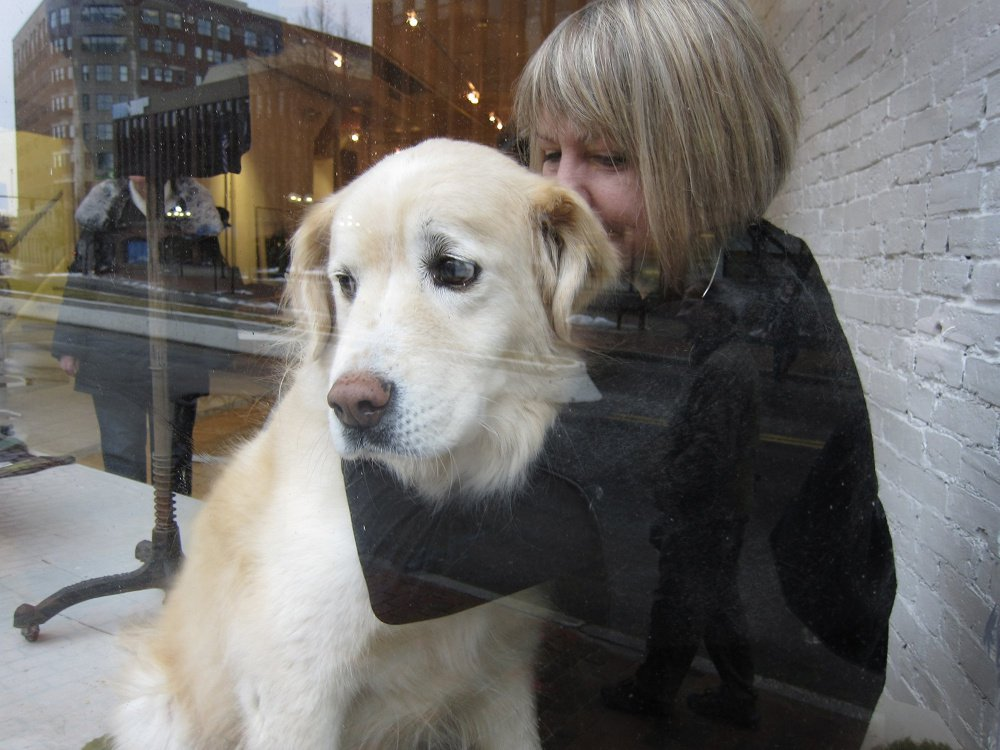Time was when Fairbanks would join Andrea Nemitz at the Black Parrot on Middle Street, and be known as the Old Port's Therapy Dog.