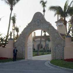 Associated Press File Photo/Alan Diaz The entrance of Mar-a-Lago in West Palm Beach, Fla., is shown in 2005. Donald Trump received a $17 million insurance payment in 2005 for hurricane damage to Mar-a-Lago, his private club in Palm Beach, but The Associated Press found little evidence of such large-scale damage.