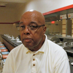 Clarence Henderson last month at the Greensboro, N.C., lunch counter where he protested some 60 years ago.