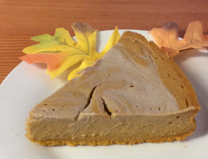 The pumpkin cheesecake at the Olive Branch Cafe in Lewiston is made from cashews, bananas and tofu rather than cheese.