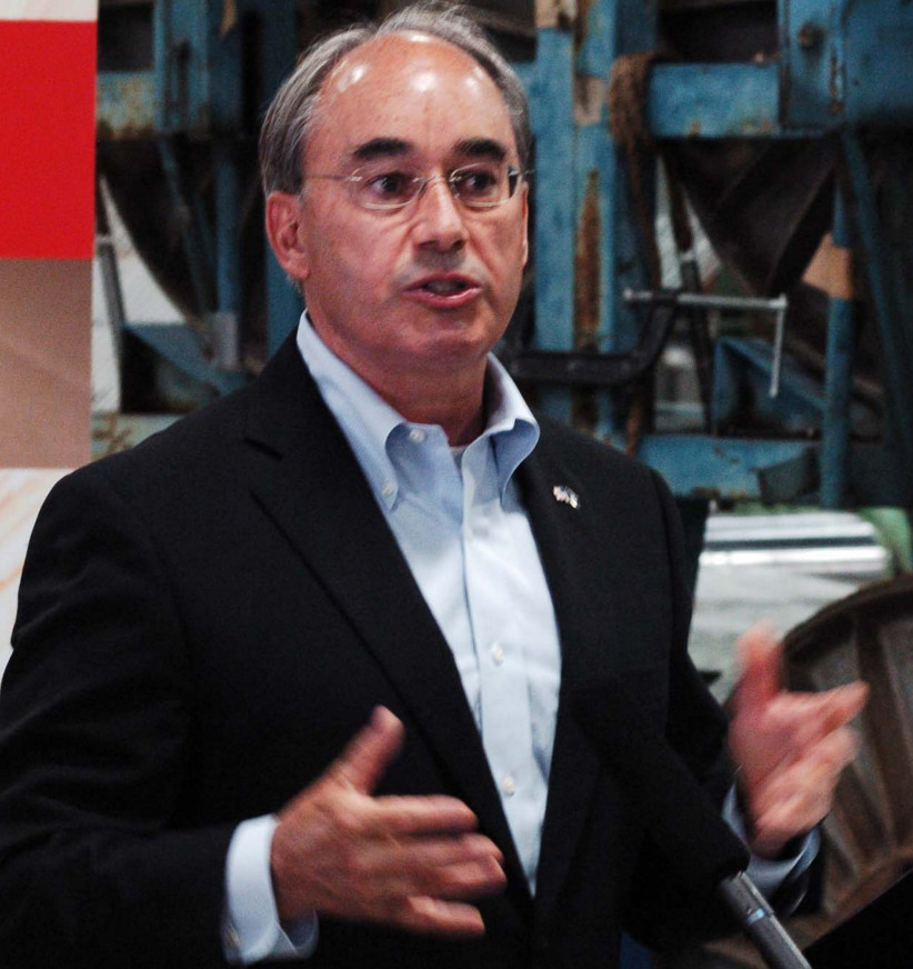 U.S. Rep. Bruce Poliquin, R-2nd District, speaks Aug. 30 during a recent press conference in Auburn.