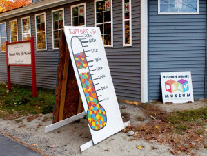 Work continues Thursday on the Western Maine Play Museum in Wilton, which is nearly halfway to its $750,000 fundraising goal.